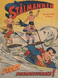 Cover Thumbnail for Stålmannen (Centerförlaget, 1949 series) #14-15/1953