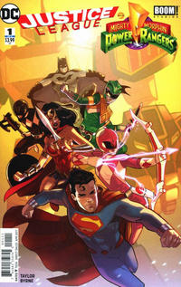 Cover Thumbnail for Justice League / Power Rangers (DC, 2017 series) #1 [Second Printing]