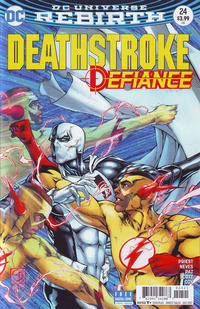 Cover Thumbnail for Deathstroke (DC, 2016 series) #24 [Davis and Delecki Variant]