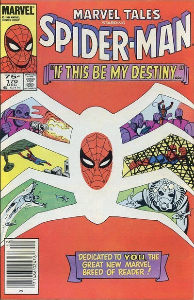 Cover for Marvel Tales (Marvel, 1966 series) #170 [Direct Edition]