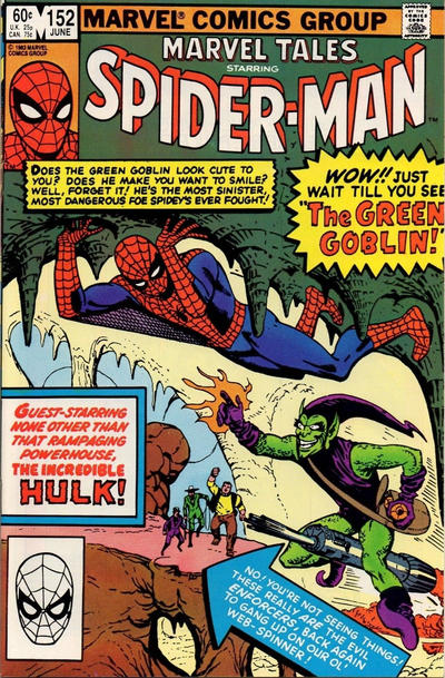 Cover for Marvel Tales (Marvel, 1966 series) #152 [Direct Edition]