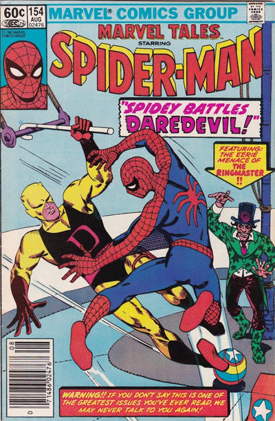 Cover for Marvel Tales (Marvel, 1966 series) #154 [Direct Edition]