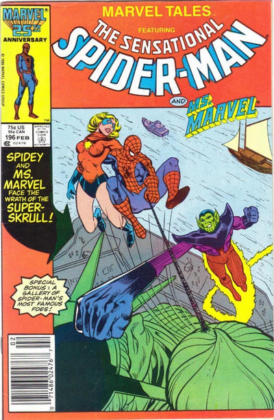 Cover for Marvel Tales (Marvel, 1966 series) #196 [Newsstand]