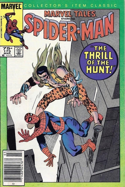 Cover for Marvel Tales (Marvel, 1966 series) #173 [Direct Edition]