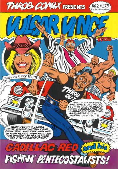 Cover for Vulgar Vince (Throb Comix, 1986 ? series) #2