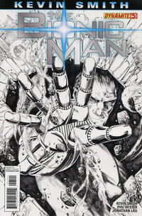 Cover Thumbnail for Bionic Man (Dynamite Entertainment, 2011 series) #5 [Jonathan Lau Black and White Variant]