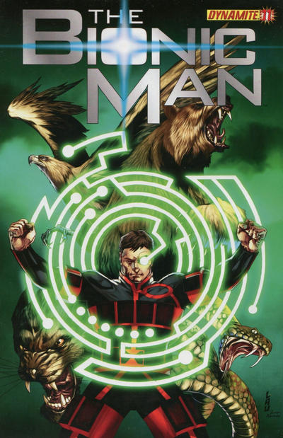 Cover for Bionic Man (Dynamite Entertainment, 2011 series) #11 [Variant Cover by Jonathan Lau]