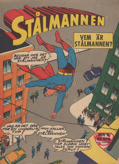 Cover for Stålmannen (Centerförlaget, 1949 series) #9/1962