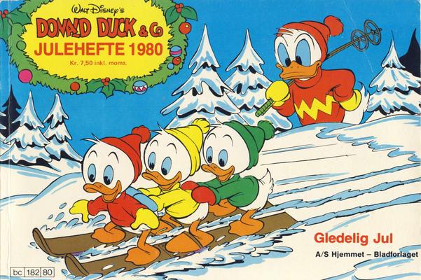 Cover for Donald Duck & Co julehefte (Hjemmet / Egmont, 1968 series) #1980