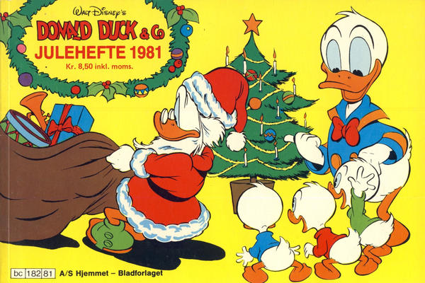 Cover for Donald Duck & Co julehefte (Hjemmet / Egmont, 1968 series) #1981