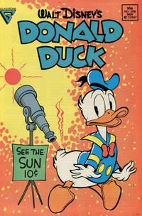 Cover Thumbnail for Donald Duck (Gladstone, 1986 series) #268 [Newsstand]