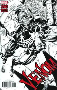 Cover Thumbnail for Venom (Marvel, 2017 series) #150 [Mark Bagley Remastered Black and White]