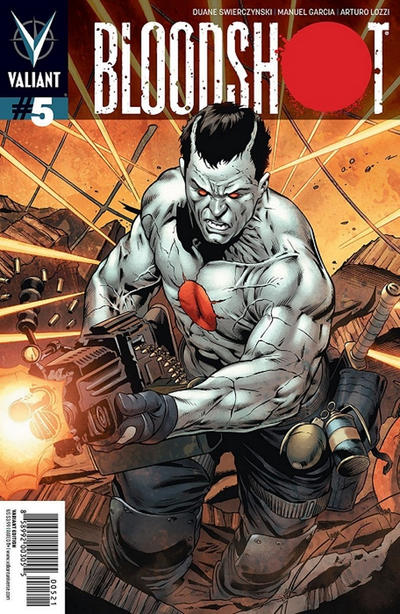 Cover for Bloodshot (Valiant Entertainment, 2012 series) #5 [Cover A - Arturo Lozzi]