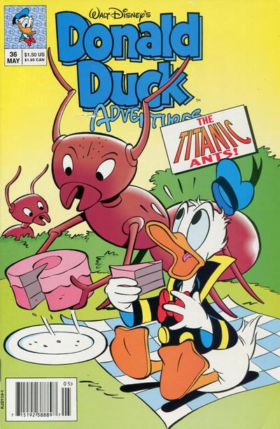 Cover for Walt Disney's Donald Duck Adventures (Disney, 1990 series) #36 [Direct]