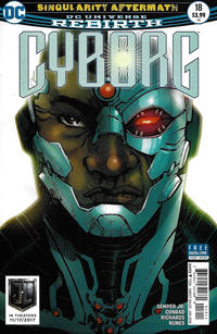 Cover Thumbnail for Cyborg (DC, 2016 series) #18 [Eric Canete Cover]