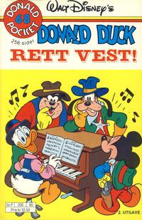 Cover Thumbnail for Donald Pocket (Hjemmet / Egmont, 1968 series) #68 - Donald Duck Rett vest! [2. utgave bc-F 330 80]