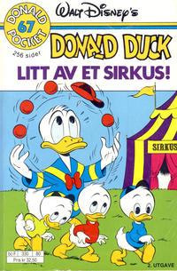 Cover Thumbnail for Donald Pocket (Hjemmet / Egmont, 1968 series) #67 - Donald Duck Litt av et sirkus! [2. utgave bc-F 330 80]