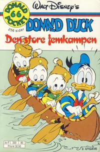 Cover Thumbnail for Donald Pocket (Hjemmet / Egmont, 1968 series) #66 - Donald Duck Den store femkampen [2. utgave bc-F 330 80]