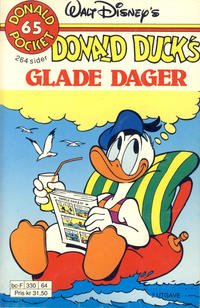 Cover Thumbnail for Donald Pocket (Hjemmet / Egmont, 1968 series) #65 - Donald Duck's glade dager [2. utgave bc-F 330 64]