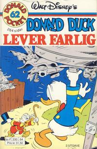 Cover Thumbnail for Donald Pocket (Hjemmet / Egmont, 1968 series) #62 - Donald Duck lever farlig [2. utgave bc-F 330 64]