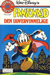 Cover Thumbnail for Donald Pocket (Hjemmet / Egmont, 1968 series) #61 - Fantonald den uovervinnelige [2. utgave bc-F 330 63]