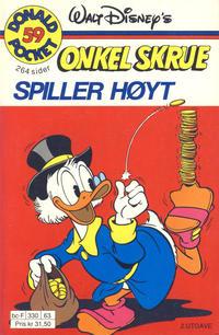 Cover Thumbnail for Donald Pocket (Hjemmet / Egmont, 1968 series) #59 - Onkel Skrue spiller høyt [2. utgave bc-F 330 63]