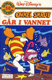 Cover Thumbnail for Donald Pocket (Hjemmet / Egmont, 1968 series) #58 - Onkel Skrue går i vannet [2. utgave bc-F 330 63]