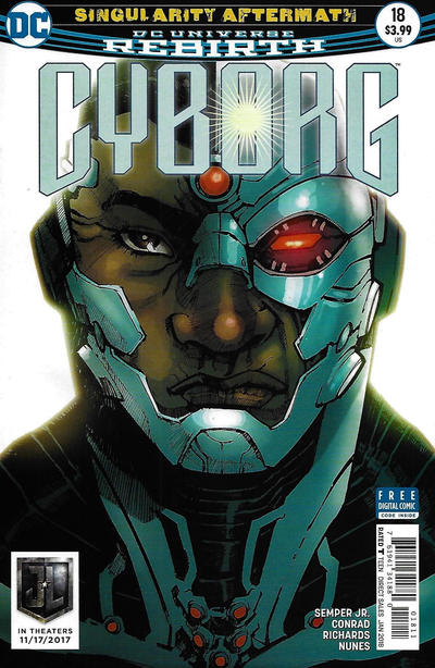 Cover for Cyborg (DC, 2016 series) #18 [Eric Canete Cover]