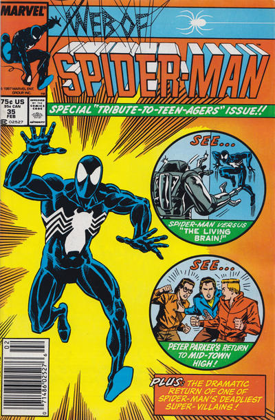 Cover for Web of Spider-Man (Marvel, 1985 series) #35 [Direct]