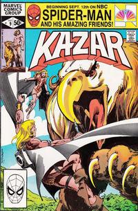 Cover Thumbnail for Ka-Zar the Savage (Marvel, 1981 series) #9 [Direct]