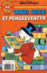 Cover Thumbnail for Donald Pocket (Hjemmet / Egmont, 1968 series) #42 - Onkel Skrue et pengeeventyr [3. utgave bc-F 670 38]