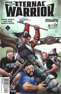 Cover Thumbnail for Wrath of the Eternal Warrior (Valiant Entertainment, 2015 series) #1 [Cover R - Sky High Comics - Deth Phimmasone]
