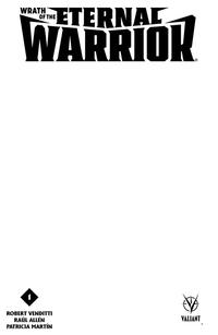 Cover Thumbnail for Wrath of the Eternal Warrior (Valiant Entertainment, 2015 series) #1 [Cover E - Blank Sketch]