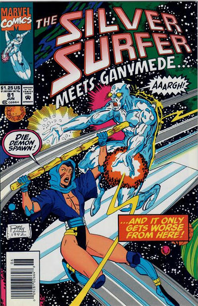 Cover for Silver Surfer (Marvel, 1987 series) #81 [Direct]