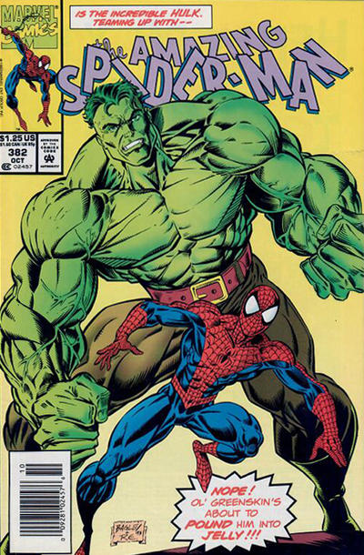 Cover for The Amazing Spider-Man (Marvel, 1963 series) #382 [Newsstand]