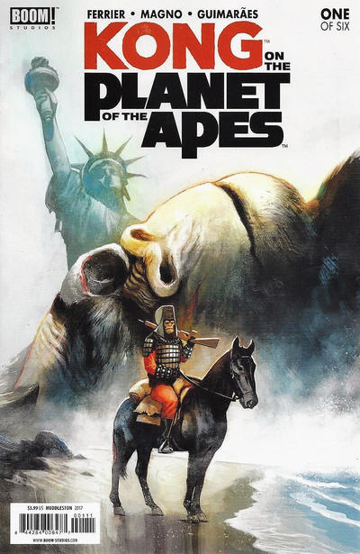 Cover for Kong on the Planet of the Apes (Boom! Studios, 2017 series) #1 [Cover A Mike Huddleston]