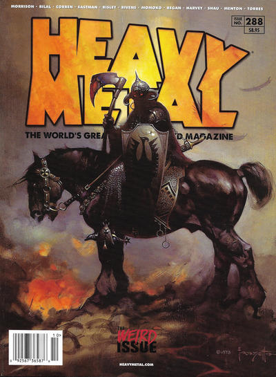 Cover for Heavy Metal Magazine (Heavy Metal, 1977 series) #288 - The Weird Issue [Cover A Frank Frazetta]
