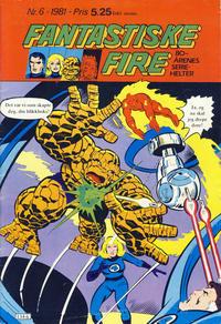 Cover Thumbnail for Fantastiske Fire (Atlantic Forlag, 1980 series) #6/1981