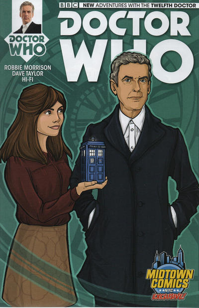 Cover for Doctor Who: The Twelfth Doctor (Titan, 2014 series) #1 [Cover C - Blank Sketch Variant]