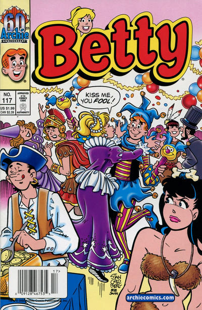 Cover for Betty (Archie, 1992 series) #117 [Direct Edition]