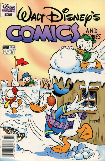 Cover for Walt Disney's Comics and Stories (Gladstone, 1993 series) #596 [Direct]