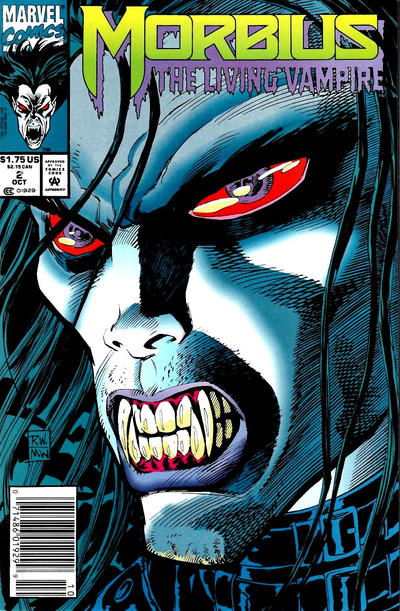 Cover for Morbius: The Living Vampire (Marvel, 1992 series) #2 [Newsstand]