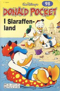 Cover Thumbnail for Donald Pocket (Hjemmet / Egmont, 1968 series) #98 - I Slaraffenland [2. utgave bc 277 91]