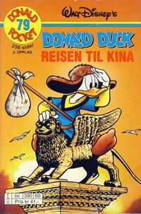 Cover Thumbnail for Donald Pocket (Hjemmet / Egmont, 1968 series) #79 - Donald Duck Reisen til Kina [2. opplag bc 390 60]