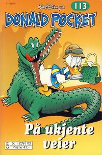 Cover Thumbnail for Donald Pocket (Hjemmet / Egmont, 1968 series) #113 - På ukjente veier [2. utgave bc 239 03]