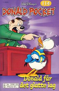 Cover Thumbnail for Donald Pocket (Hjemmet / Egmont, 1968 series) #114 - Donald får det glatte lag [2. utgave bc 239 03]