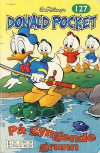 Cover Thumbnail for Donald Pocket (Hjemmet / Egmont, 1968 series) #127 - På gyngende grunn [2. utgave bc 239 50]