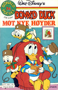 Cover Thumbnail for Donald Pocket (Hjemmet / Egmont, 1968 series) #74 - Donald Duck mot nye høyder [2. utgave bc-F 330 91]