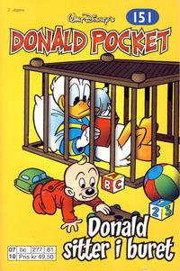 Cover Thumbnail for Donald Pocket (Hjemmet / Egmont, 1968 series) #151 - Donald sitter i buret [2. utgave bc 277 81]