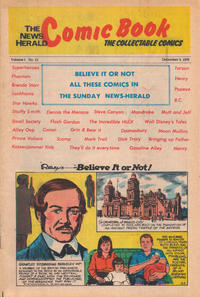 Cover Thumbnail for The News Herald Comic Book the Collectable Comics (Lake County News Herald, 1978 series) #13